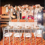 Lux Events & Designs Table: 34 x 90 Rectangular Glass Dining