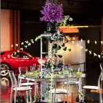 First Place & People's Choice Winner Table: Pentagonal Glass Dining